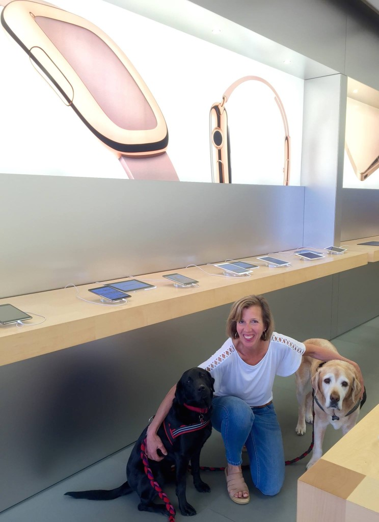 Lisa Apple with Dogs
