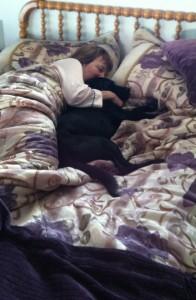 Gina sleeping with Lisa