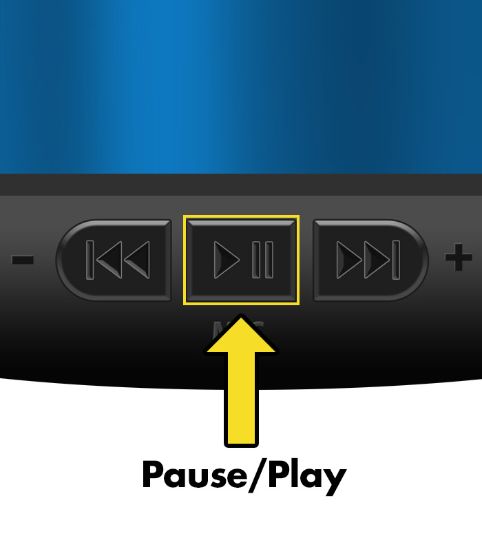 iCalmDog 3.0 instructions-pause-play