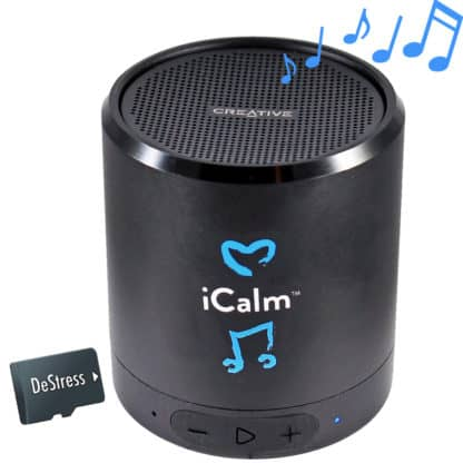 bluetooth speaker with music to de-stress on micro SD sound card