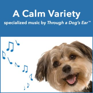 a variety of calming music for dogs and people