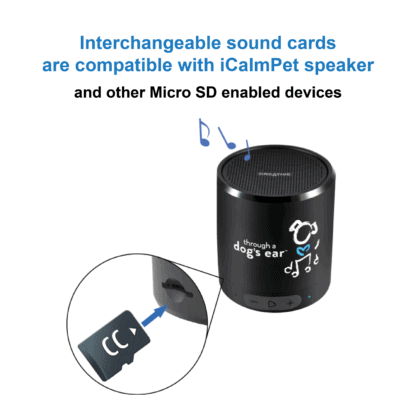 micro SD sound card and iCalmPet speaker
