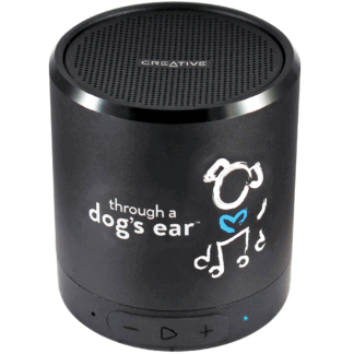 through a dog's ear icalmdog calming dog music portable speaker