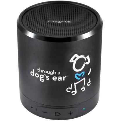 through a dog's ear icalmdog calming dog music portable speaker