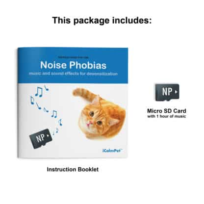 Through a Cat's ear, icalmpet icalmcat noise phobia music and sound effects for desensitization, sound therapy Micro SD
