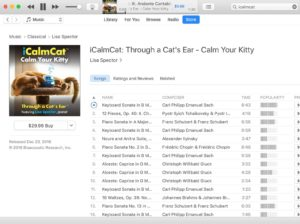 Download cat music through iTunes, as pictured here