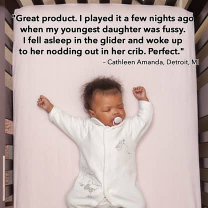 Sound Asleep music helps me and my child sleep