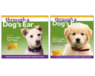 icalmpet icalmdog through a dogs ear classical tunes for calm puppies and dogs prevention of noise phobia Click here to view and purchase the Calm Your Puppy Series (3-CD set)